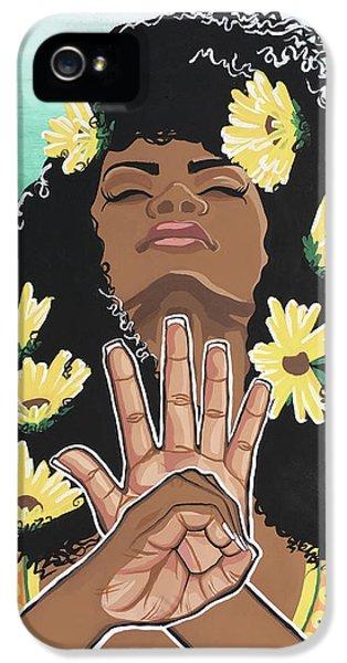 Sunflower iPhone 5 Case - Sunflowers And Dashiki by Alisha Lewis