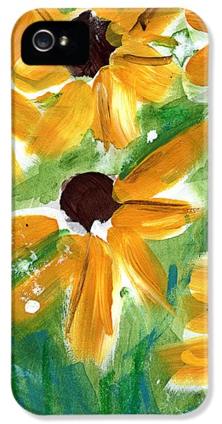 Sunflower iPhone 5 Case - Sunflowers by Linda Woods
