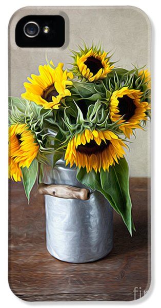 Artistic iPhone 5 Cases - Sunflowers iPhone 5 Case by Nailia Schwarz