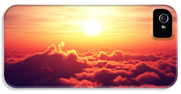 Weather iPhone 5 Case - Sunrise Above The Clouds by Johan Swanepoel
