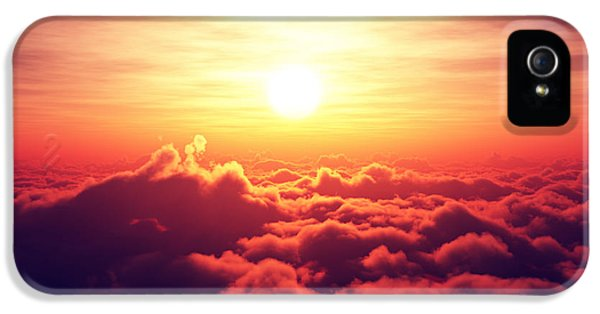 Sunrise Above The Clouds IPhone 5 Case by Johan Swanepoel