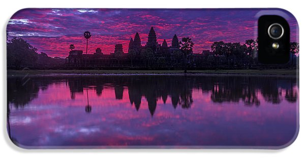Sunrise Angkor Wat Reflection IPhone 5 Case by Mike Reid