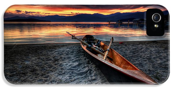 Boat iPhone 5 Case - Sunrise Boat by Matt Hanson