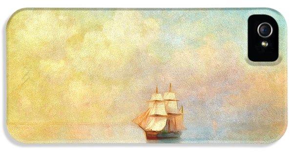Boat iPhone 5 Case - Sunrise On The Sea by Georgiana Romanovna