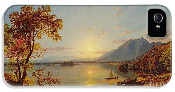 Sunset  Lake George IPhone 5 Case by Jasper Francis Cropsey