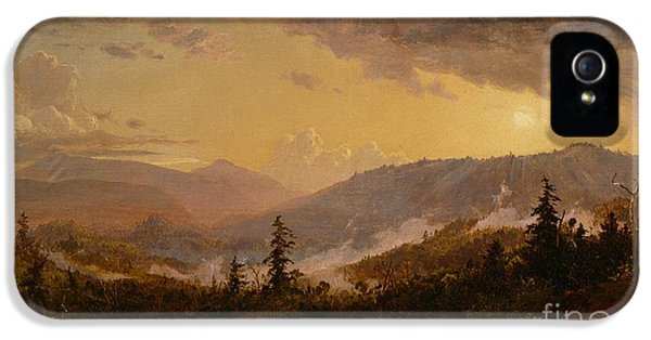 Sunset After A Storm In The Catskill Mountains IPhone 5 Case by Jasper Francis Cropsey