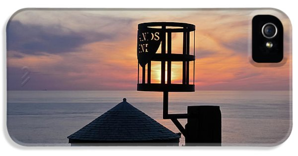 Sunset At Lands End Hut IPhone 5 Case by Terri Waters