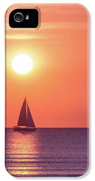 Beach Sunset iPhone 5 Case - Sunset Dreams by Racheal Christian