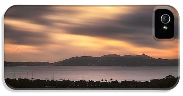 IPhone 5 Case featuring the photograph Sunset Over St. John And St. Thomas Panoramic by Adam Romanowicz