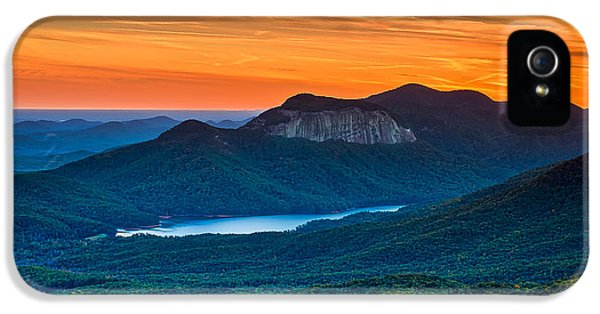Sunset Over Table Rock From Caesars Head State Park South Carolina IPhone 5 Case by T Lowry Wilson