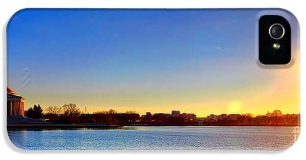 Sunset Over The Jefferson Memorial  IPhone 5 Case
