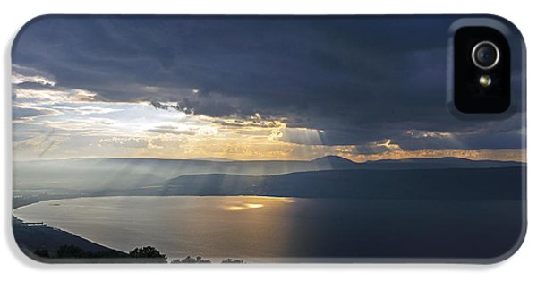 Sunset Over The Sea Of Galilee IPhone 5 Case by Dubi Roman