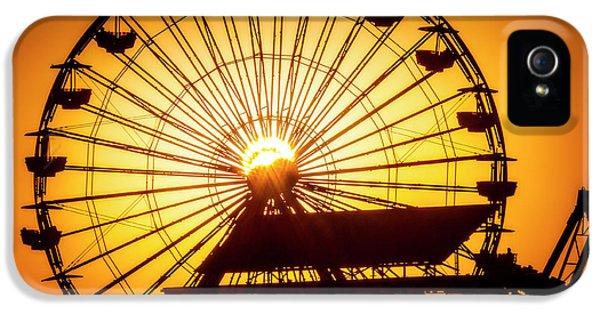 Venice Beach iPhone 5 Case - Sunset Through Ferris Wheel by Garry Gay