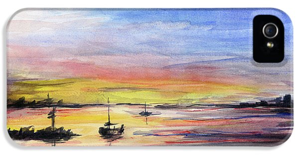 Sunset Watercolor Downtown Kirkland IPhone 5 Case