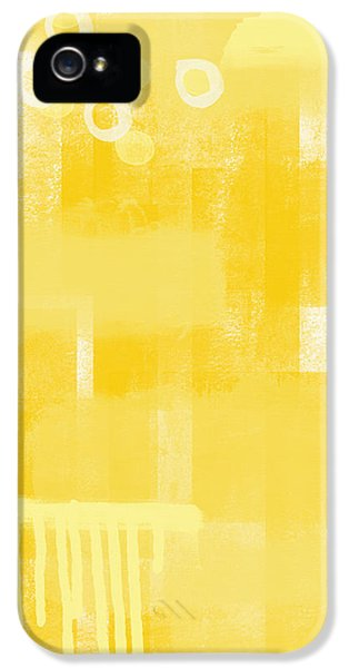 Sunshine- Abstract Art IPhone 5 Case by Linda Woods