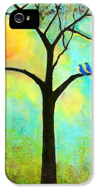 Bluebird iPhone 5 Case - Sunshine Tree by Blenda Studio