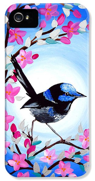 Superb Fairy Wren IPhone 5 Case by Cathy Jacobs
