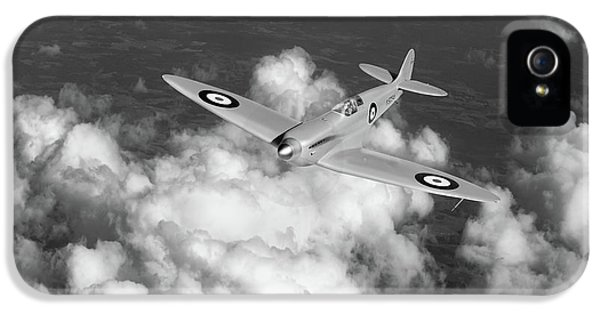 IPhone 5 Case featuring the photograph Supermarine Spitfire Prototype K5054 Black And White Version by Gary Eason