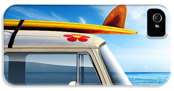 Flowers iPhone 5 Case - Surf Van by Carlos Caetano