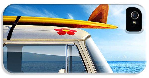 Surf Van IPhone 5 Case by Carlos Caetano