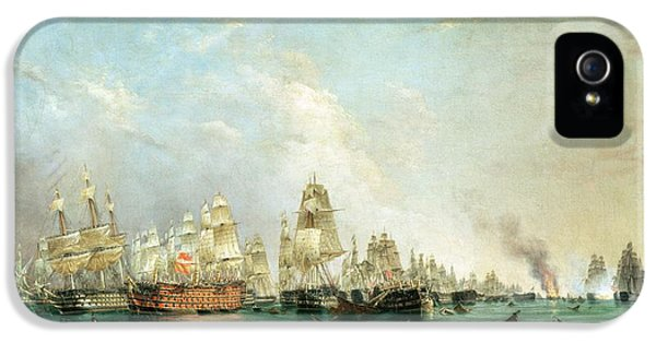 Surrender Of The Santissima Trinidad To Neptune The Battle Of Trafalgar IPhone 5 Case by Lieutenant Robert Strickland Thomas