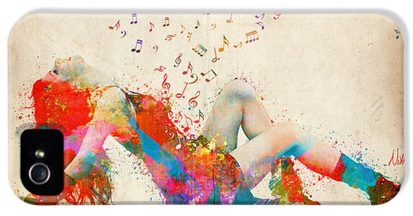 Sweet Jenny Bursting With Music IPhone 5 Case by Nikki Smith