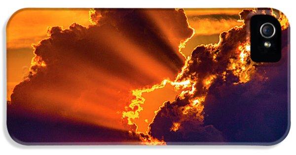 Nebraskasc iPhone 5 Case - Sweet Nebraska Crepuscular Rays 010 by NebraskaSC