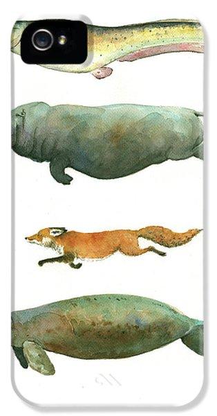 Catfish iPhone 5 Case - Swimming Animals by Juan Bosco