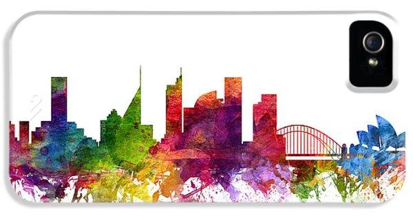Sydney Australia Cityscape 06 IPhone 5 Case by Aged Pixel