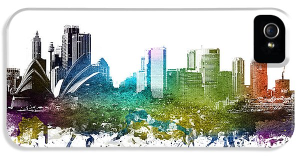 Sydney Cityscape 01 IPhone 5 Case by Aged Pixel
