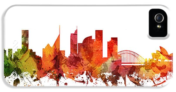Sydney Cityscape 04 IPhone 5 Case by Aged Pixel