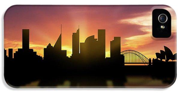 Sydney Skyline Sunset Ausy22 IPhone 5 Case by Aged Pixel