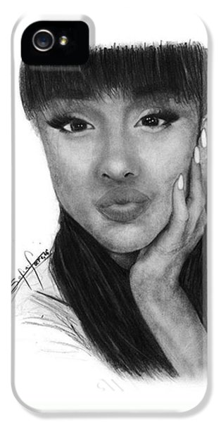 iPhone 5 Case - Ariana Grande Drawing By Sofia Furniel by Jul V