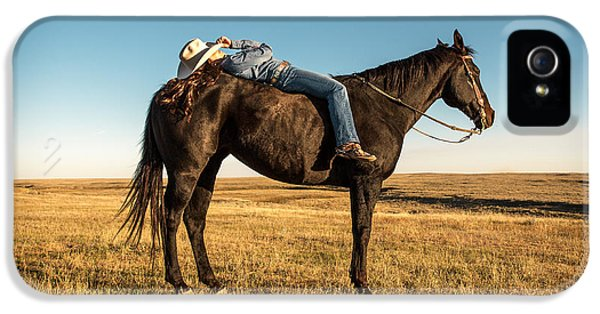 Horse iPhone 5 Case - Taking A Snooze by Todd Klassy