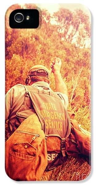 Tasmania Search And Rescue Ses Volunteer  IPhone 5 Case by Jorgo Photography - Wall Art Gallery