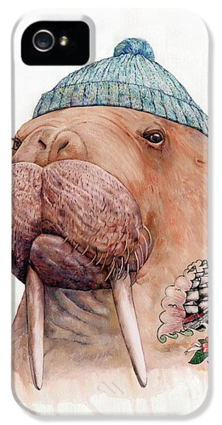 Animals iPhone 5 Case - Tattooed Walrus by Animal Crew