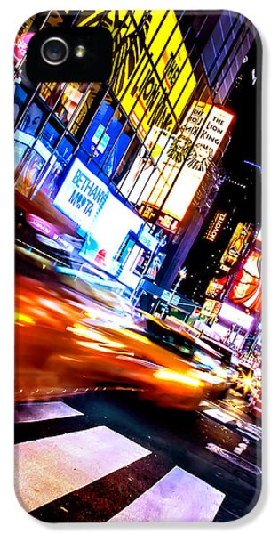 Times Square iPhone 5 Case - Taxi Square by Az Jackson
