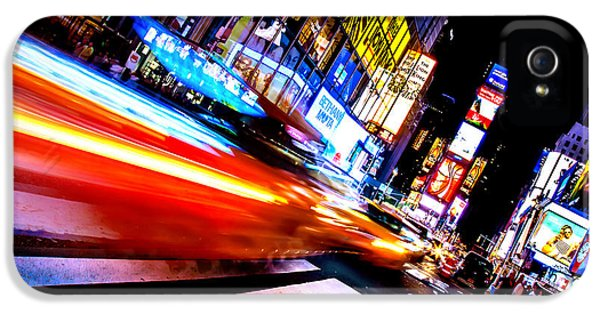 Times Square iPhone 5 Case - Taxis In Times Square by Az Jackson