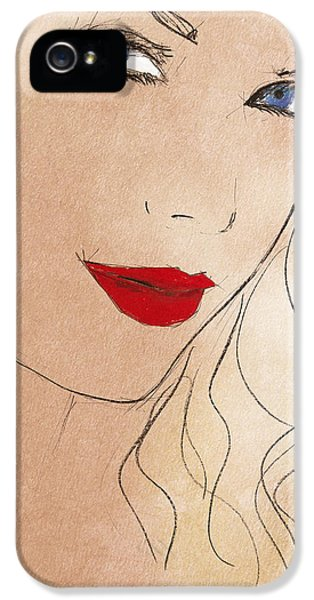 Taylor Red Lips IPhone 5 Case by Pablo Franchi