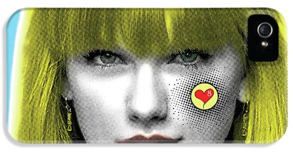 Taylor Swift, Pop Art, Portrait, Contemporary Art On Canvas, Famous Celebrities IPhone 5 Case by Dr Eight Love