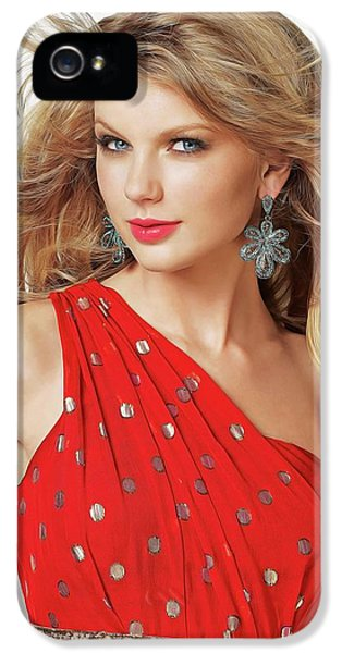 Taylor Swift IPhone 5 Case by Twinkle Mehta