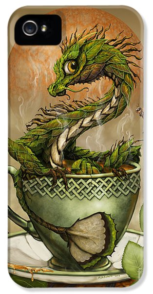 Dragon iPhone 5 Case - Tea Dragon by Stanley Morrison