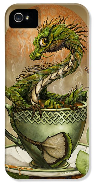 Tea Dragon IPhone 5 Case by Stanley Morrison