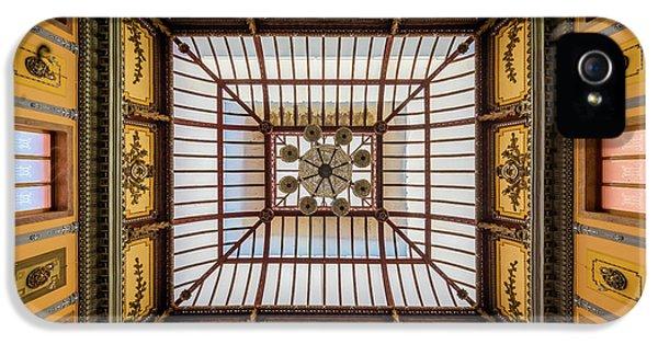 Teatro Juarez Ceiling IPhone 5 Case by Inge Johnsson