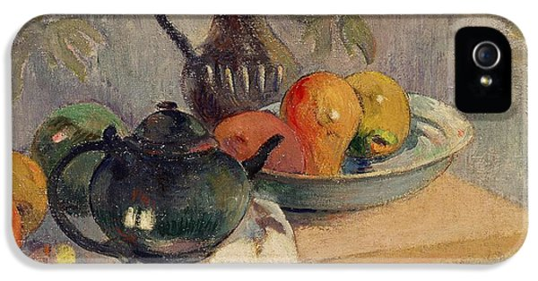 Teiera Brocca E Frutta IPhone 5 Case by Paul Gauguin