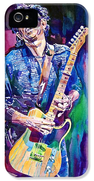 Music iPhone 5 Case - Telecaster- Keith Richards by David Lloyd Glover