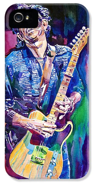 Guitar iPhone 5 Case - Telecaster- Keith Richards by David Lloyd Glover