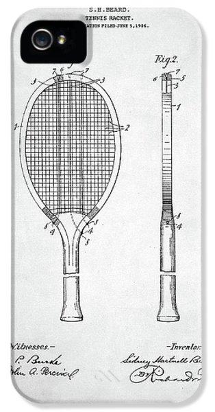 Serena Williams iPhone 5 Case - Tennis Racket Patent 1907 by Zapista Zapista