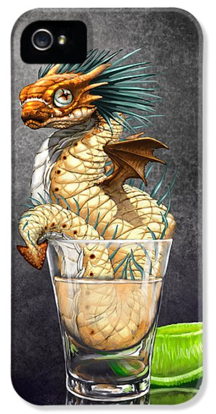 Dragon iPhone 5 Case - Tequila Wyrm by Stanley Morrison
