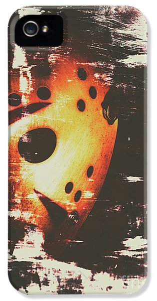 Hockey iPhone 5 Case - Terror On The Ice by Jorgo Photography - Wall Art Gallery